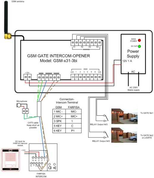 Wiring Diagram Of Intercom : Wire intercom systems wiring diagram security